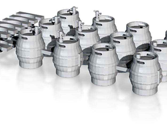 Firkin Beer Kegs - HO Scale 3d printed