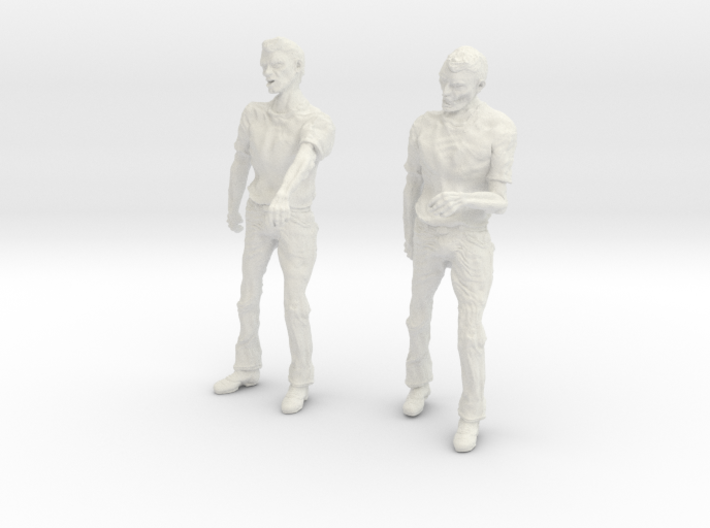1-24 Male Zombie Set3 3d printed