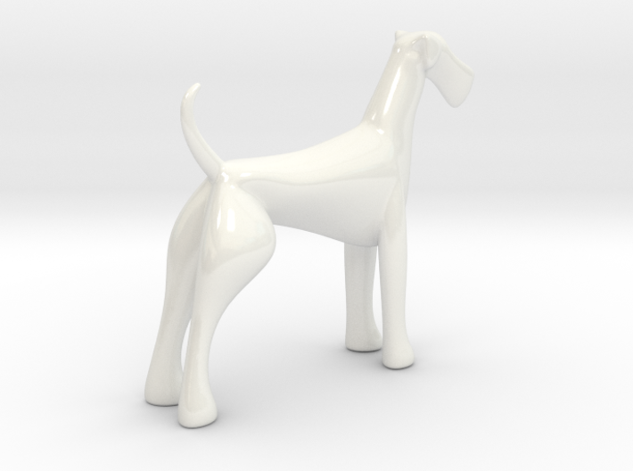 Porcelain Airedale Terrier 3d printed