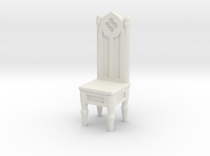 Gothic Straight Backed Chair 3d printed