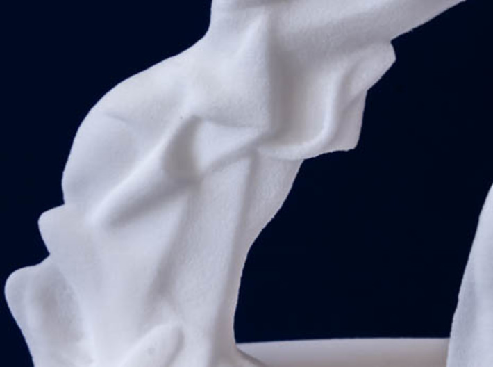 Spiral Expansion of Muscles in Movement - 15.2cm 3d printed Close up of the legs
