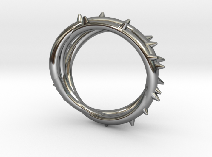 Rose Thorn Ring - Sz.8 3d printed