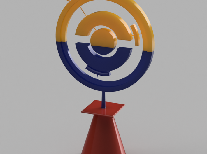 Pokestop Tree Topper Cone 3d printed Assembled piece
