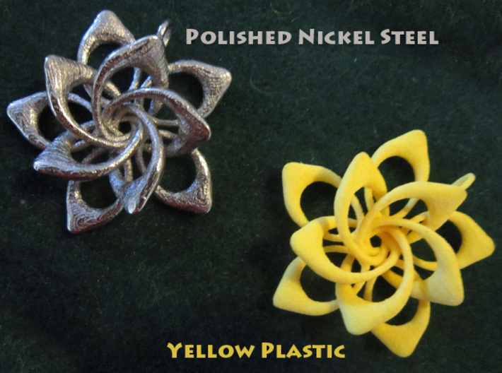 Petal Rings 5 Points - 2 Tiers - 4cm - wLoopet 3d printed