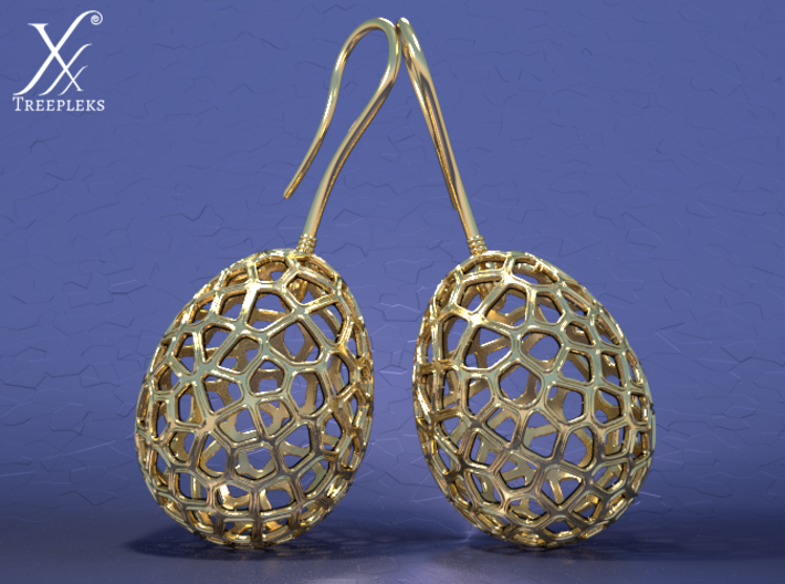 Fertilized Bio-inspired Zerggrings 3d printed Cycle render (Gold).