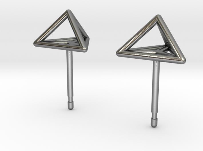 Triangle Stud Earrings 3d printed