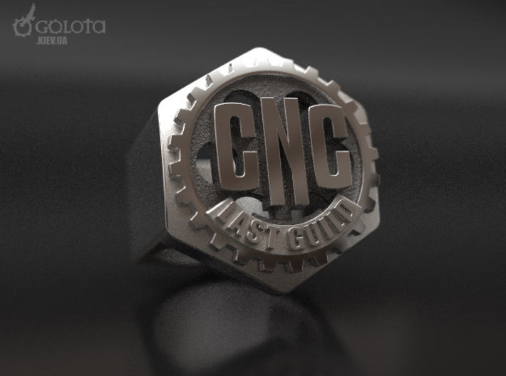 CNC Guild Ring - 9 size 3d printed CNC_guild_ring heave var.