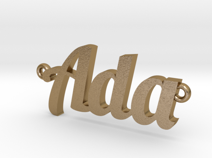 Custom Nameplate Necklace Pendant 3d printed
