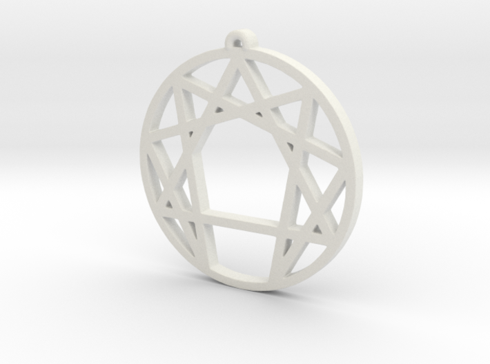 Enneagram Pendant Small (1 inch) 3d printed