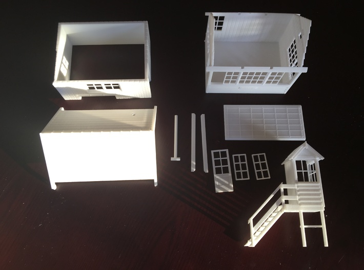 CH71 - Cheddleton Signal box 3d printed The kit