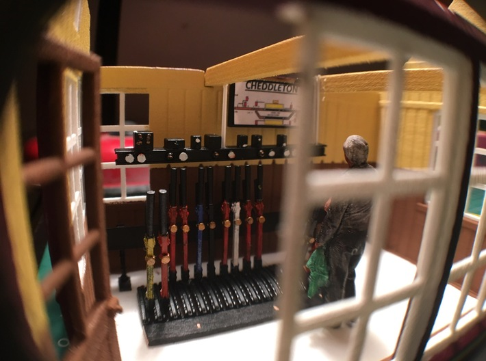 CH71 - Cheddleton Signal box 3d printed An internal shot with part of our interior detailing kit on show.