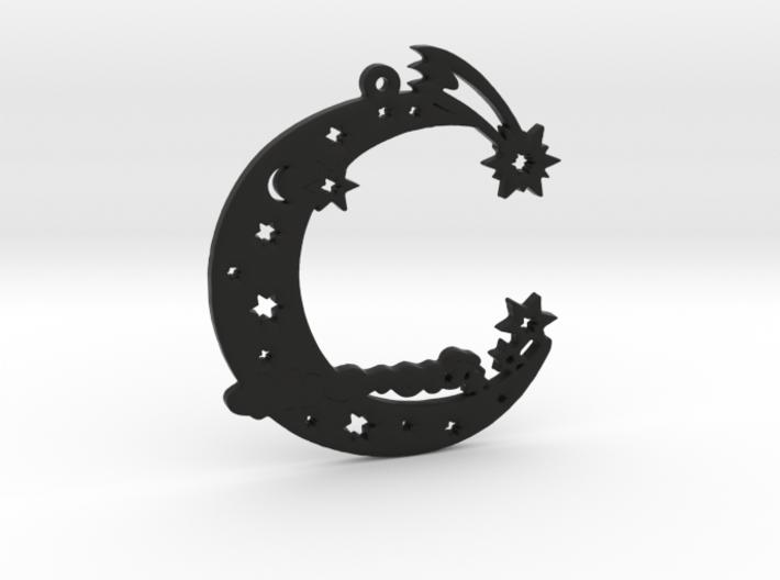 Christmas moon ornament 3d printed