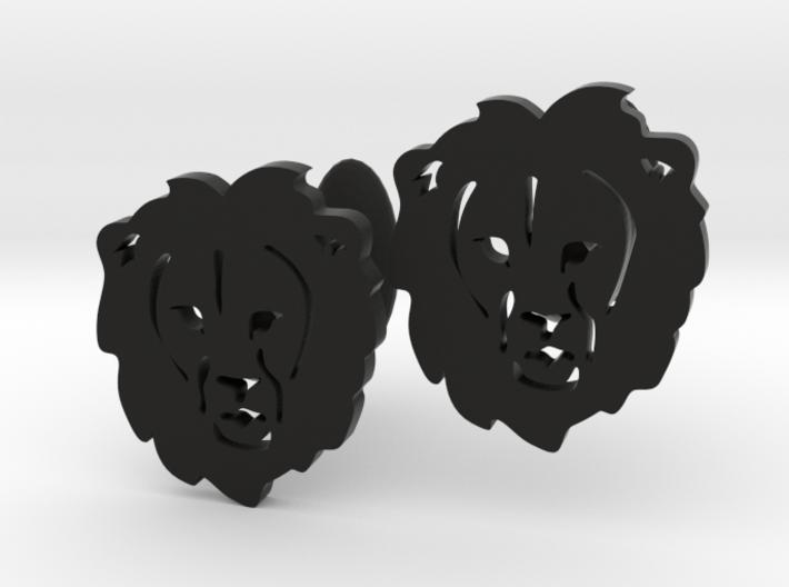 Lion Cufflinks 3d printed
