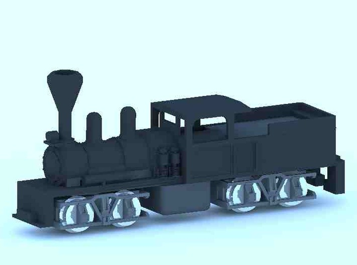 Shay Steam Locomotive Shell 3d printed Shay Steam mounted on dummy core