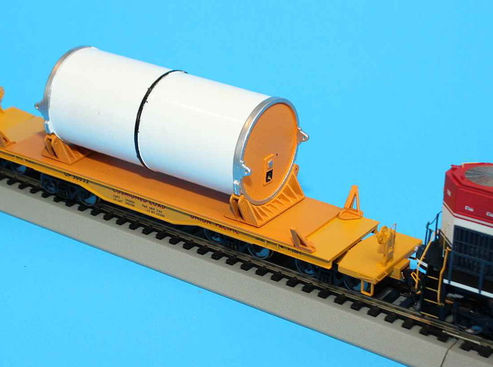 HO 1/87 NASA Shuttle SRB flatcar covers (set 3d printed My first customer, Morgan Paul, will be advertising fully finished models on ebay. Incuding Clamshells with decals.