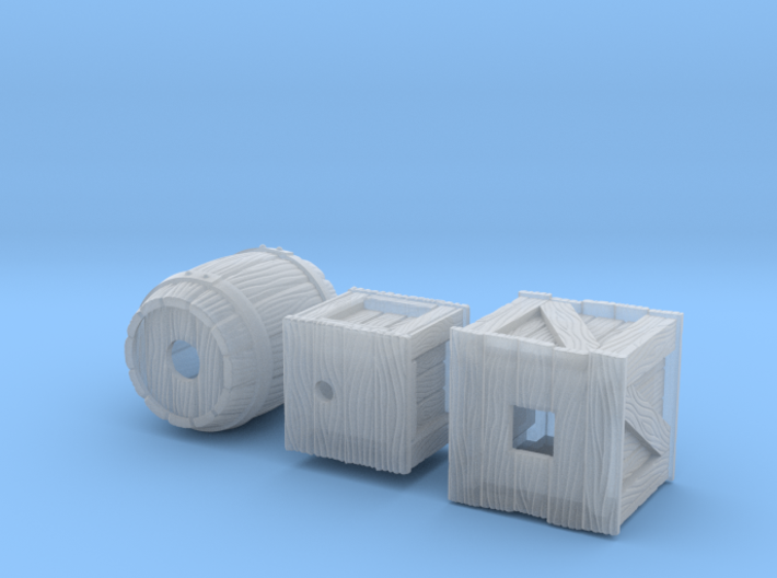Miniature Crates 3d printed