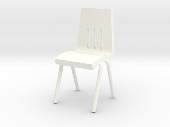 Miniature 1:48 School Chair 3d printed