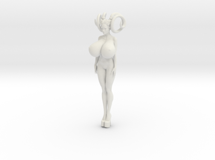 Crazy breast woman 001 3d printed