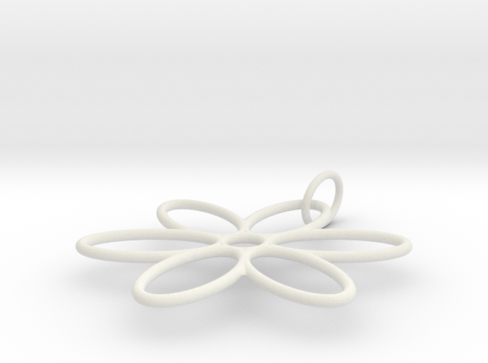 Flower Pendant Wire Large 3d printed