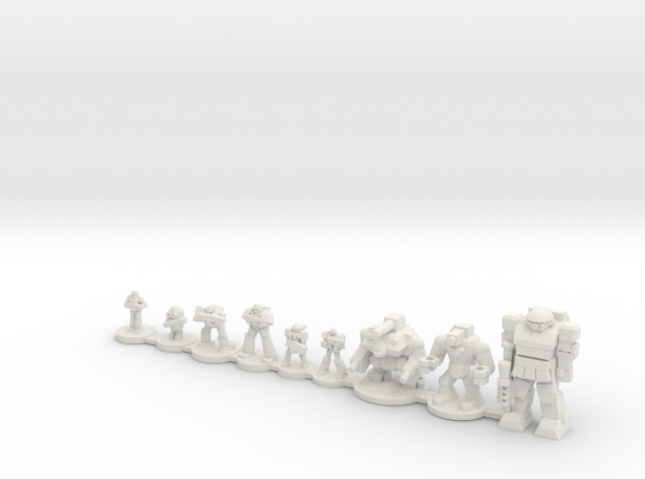 Infantry compare 3d printed