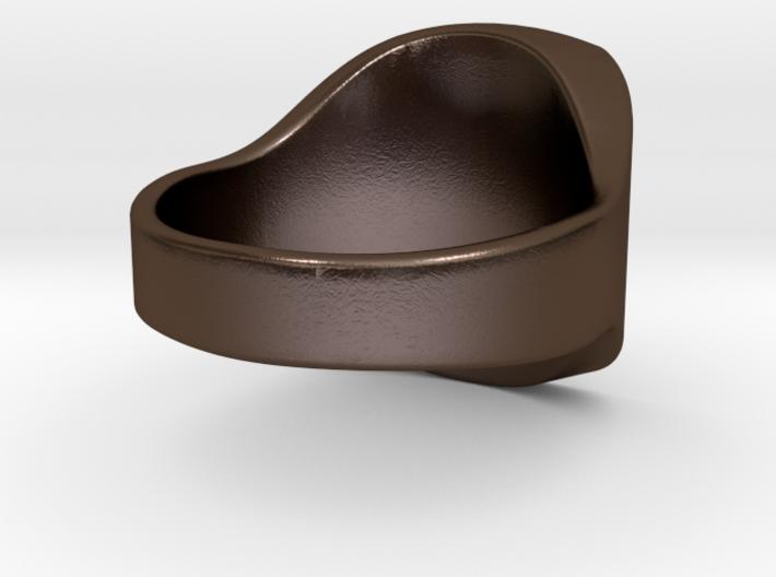Customizable Royal Signet Ring size 9 3d printed