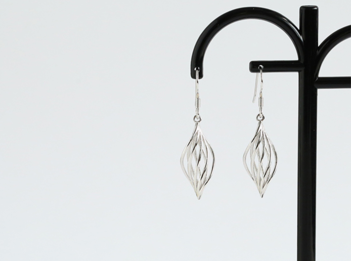 Leaf Earrings 3d printed