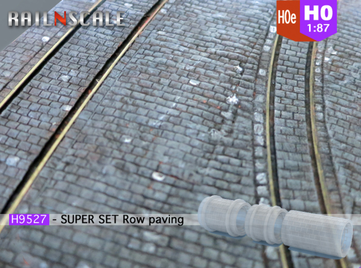 SUPER SET Row paving rollers H0 and H0e 3d printed