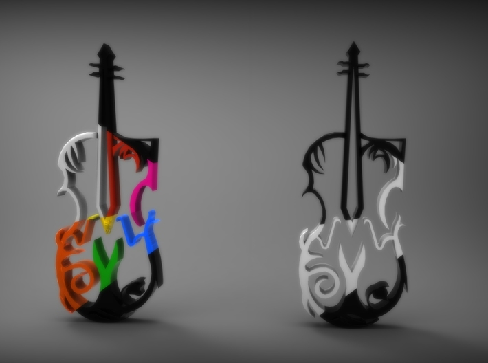 Violina 3d printed Violin Necklace