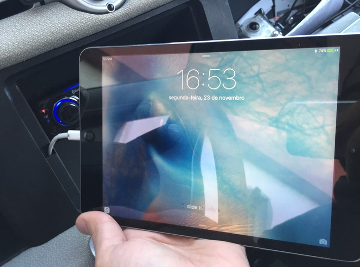 Detachable Ipad Holder Mask for Smart Fortwo 2010- 3d printed