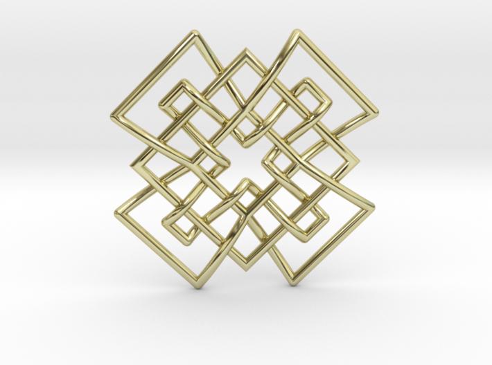Tetramesh Pendant 3d printed