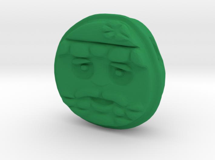 Santa EMOJI Face Pendant 3d printed