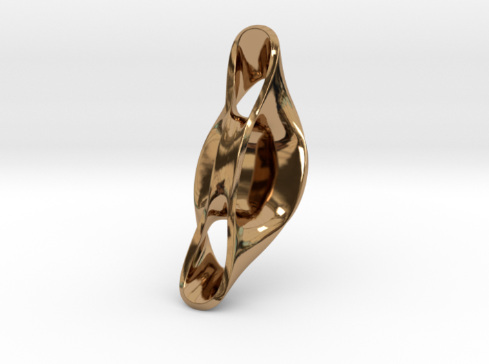 Triple Cube Brass 056 3d printed