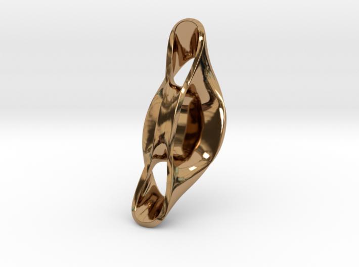 Triple Cube Brass 057 3d printed