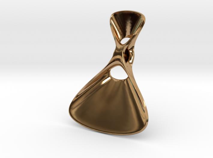 Triple Cube Brass 075 3d printed