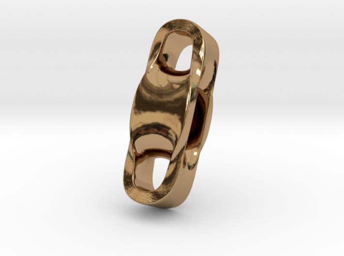 Triple Cube Brass 100 3d printed