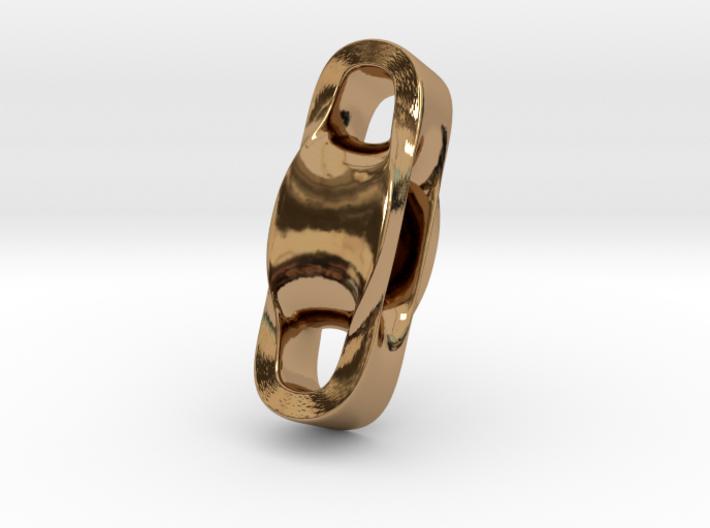 Triple Cube Brass 001 3d printed