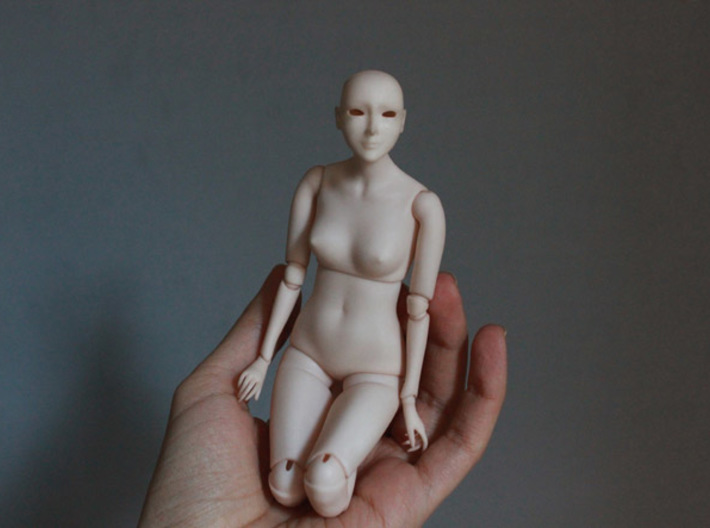 Ball Jointed Doll 3d printed When polished and dyed