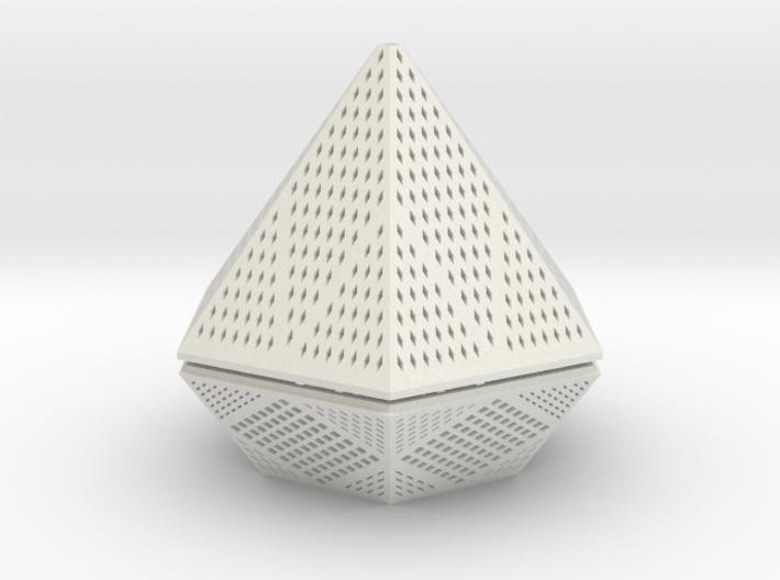 Diamond lampshade 3d printed