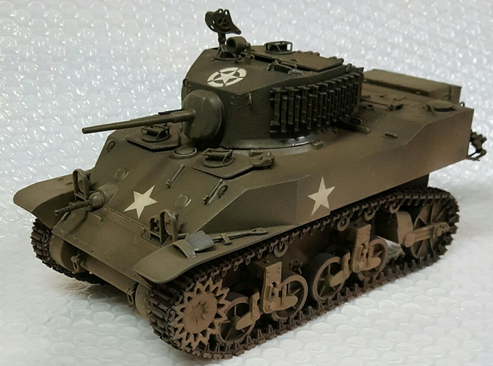 1:16 USA M5A1 Body 3d printed Model contains tank body only - See render