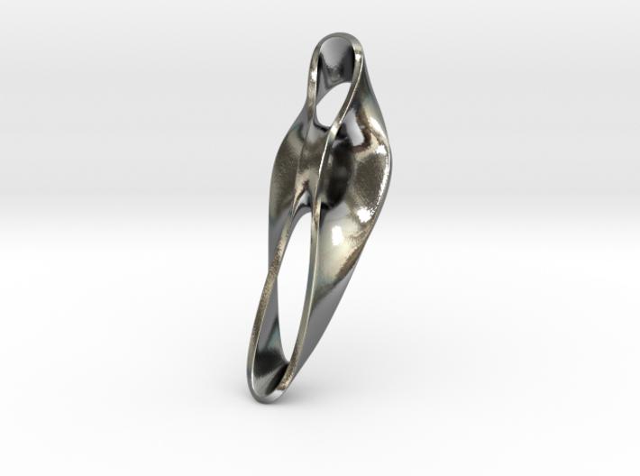 Triple Cube Silver 049 3d printed