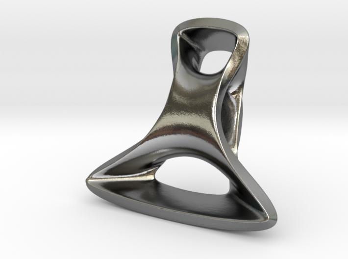 Triple Cube Silver 096 3d printed