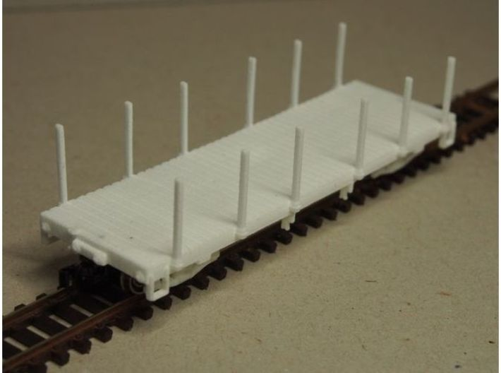 HOn30 25 foot Flatcar with stakes (plus) 3d printed