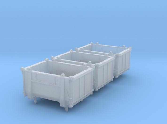 SET 3x Eoskrt 021 Behälter (Roco) (N 1:160) 3d printed