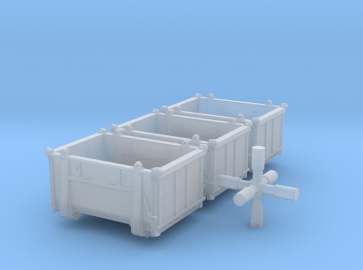 SET 3x Eoskrt 021 Behälter (FLM/MTX) (N 1:160) 3d printed