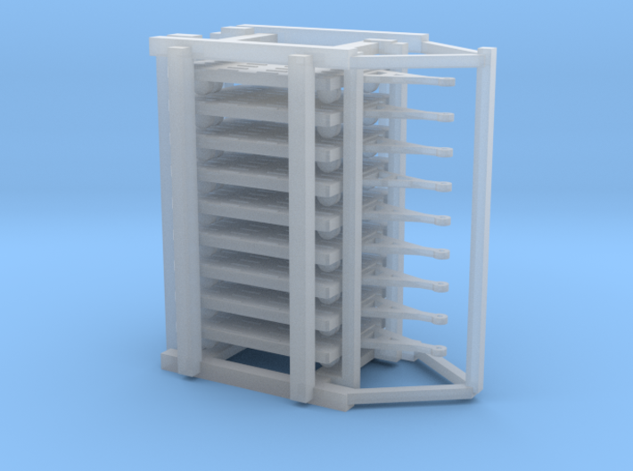 GSE Airport Baggage Container Cart 1:400 (9pc) 3d printed
