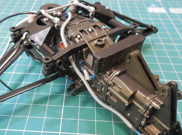 Oil cooler for the 1/8 MP4/4 Kyosho/DeAgostini mod 3d printed printed part painted and instaled in the model