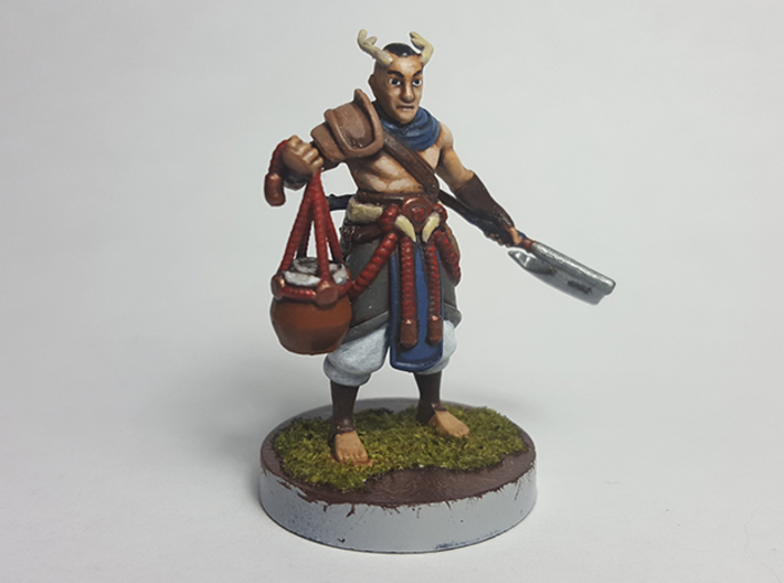 Elf Primal Barbarian 3d printed Finished model painted using acrylic paints.