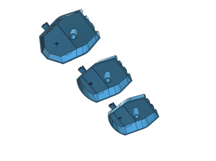 "1/350 Lion Class Battleship 16"" Gun Turrets 3d printed"