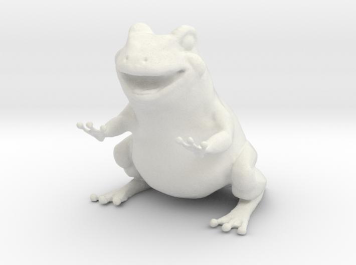 Frog figurine 3d printed