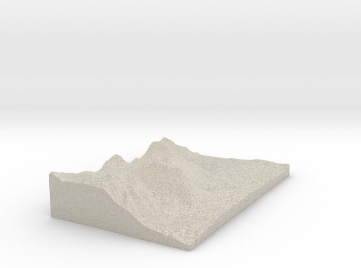 Model of Hilton Creek Lakes 3d printed
